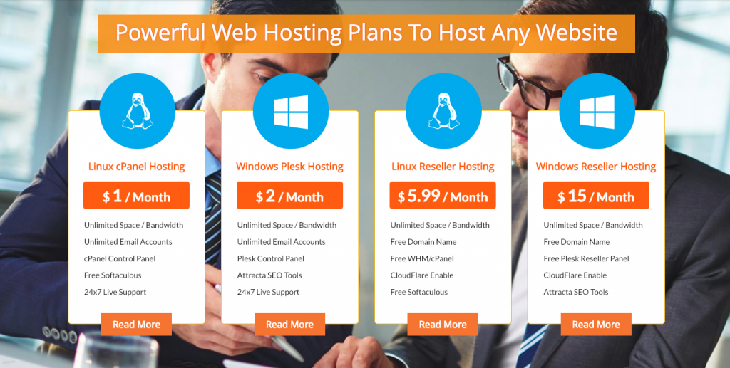 Hostripples hosting packages